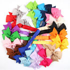 4 Inch Girls Newborn Baby Headbands Hair Bows Headwear Hair Boutique Accessories