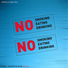 100 STICKERS NO SMOKING EATING DRINKING CLEAR SIGN TAXI MINI CAB VEHICLE CAR VAN