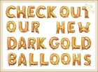 "40""100cm Dark Gold Foil Letter Number Balloons Birthday Wedding Party Decoration"