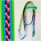 PVC Bridle & Reins - Multi Coloured with Fancy Browband
