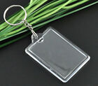 Key Chain Key Rings W/Transparent Plastic Picture Frames 110x42mm 10pcs SP0793