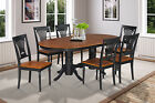 "42""x78"" OVAL DINETTE DINING ROOM TABLE SET WITH WOOD SEAT IN BLACK & CHERRY"
