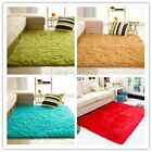 Polyester Shaggy Area Rug Dining Room Home Bedroom Soft Carpet Floor Clean