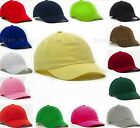 Low Profile Solid Blank Baseball Cap Curved Hat Polo Style New Adjustable VELCRO