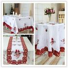 Christmas Table Cloth White Rectangle Table Cover Home Hotel Party Decoration