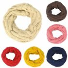 Toddler Baby Girl Boy Knit Neck Warmer Round Scarf Wrap Fashion Winter Scarves