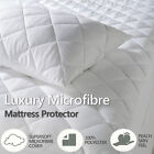 "Microfibre Quilted Elasticated Fitted Mattress Bed Protector 12"" / 16"" Deep"