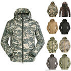 Men's Outdoor Casual Jacket Waterproof Hooded Camping Hiking Hunting Coat New