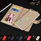 Leather Magnetic Detachable Wallet Card Case Cover For Apple iPhone 6 6S Plus