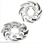 Steel Tribal Swirl Fake Clip On No Non Piercing Nipple Shield Ring  #4