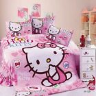 Hello Kitty kids Bedding Set 100% Cotton Cartoon Sheets Pillowcases Duvet covers