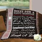 Personalized Couples Wedding Tapestry Throw Happy Marriage Rules Throw Blanket