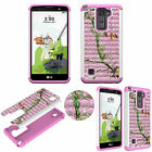 For LG Stylo 2 Plus Diamond Protective TPU+PC Bling Shockproof Dual Layer Cover