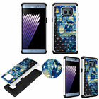 For Samsung Note 7 Diamond Protective TPU+PC Bling Shockproof Rhinestone Cover