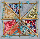 NEW Authentic Hermes Silk Scarf ROBINSON CHIC - Periwinkle blue -