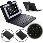 Flip Leather w/ USB Keyboard Case Cover Universal For Various 8* Android Tablet