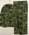 NEW NICK & NORA FLANNEL PAJAMA SET ARMY MEN CAMOUFLAGE PRINT MENS sz M