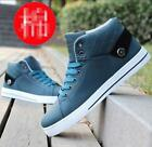 Fashion New Men's Shoes Casual Sneakers Athletic  High Top shoes canvas Boots