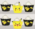 Pikachu Computer Game Birthday Party Wrap Cupcake Cases Cake Wrappers