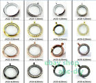 Mix Style Copy Stainless Steel Round Magnetic Pendant Locket DIY Charm Necklace