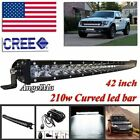 42 Inch Curved led ligts Spot Flood Off-road SUV Tractor Ford 4WD Diving lights