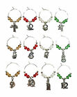 12 Days of Christmas Wine Glass Charms - 3 Different Style - FREE P&P