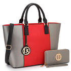 New Womens Handbags Faux Leather Tote Bag Satchels Shoulder Bags Large Day Purse