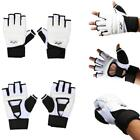 Fist Padded Mitts Boxing Sparring Punch Bag MMA Grappling Hand Protector White