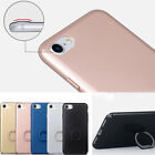 Glossy Shcokproof Ring Stand Holder Hard PC Thin Case Cover For iPhone 7 Plus
