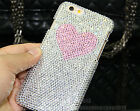 Super Bling Pink LOVE Austria Diamond Crystal Hard Case Cover Skin For iPhone