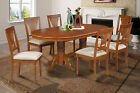 "42""x78"" OVAL DINETTE DINING ROOM TABLE SET W/.  18"" LEAF SOFT-PADDED SEAT"