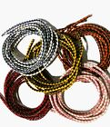 3mm / 5mm Round Genuine/Real Braided Leather Cords Bolo Jewelry Cord Motorcycle