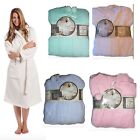 Womens Ladies Soft Microfibre Lightweight Dressing Gown Robe One Size
