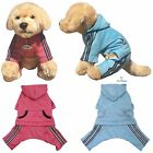 DOG CLOTHES JUMPSUIT WITH HOOD SPORT COAT JACKET WITH REFLECTIVE STRIPES KLIPPO