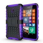 Shockproof Rugged Hybrid Armor Nokia Lumia 630 Kick Stand Case Cover
