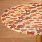 NEW ~ FITTED Autumn Leaves Vinyl Table Cover Round Oval/Oblong Square Backed