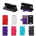 6 Colors Leather Folio Flip stand Cover Case For ZTE Mobile Phones 01