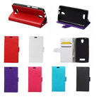 6 colours Leather Folio Wallet Case Cover Pouch For Lenovo Mobile Phones 01