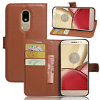 9 Colors Leather Case Flip Wallet Cover Stand Pouch For Motorola Moto M