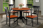 "36"" ROUND TABLE DINETTE KITCHEN DINING ROOM SET IN BLACK & CHERRY FINISH"