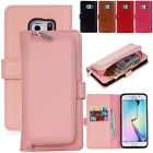 Leather Magnetic Detachable Wallet Flip Card Slot Case For Samsung Galaxy Phones