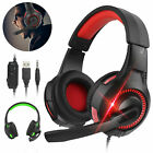LED Universal Game Headset 3.5mm Stereo Surround Headphone Mic For PS4 /Xbox One
