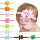 3 Inch Hair Bows Baby Girls Bowknot Elastic Headbands Hair Accessories