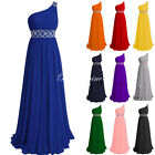 Stock Size Long Chiffon Bridesmaid Prom Dresses Party Evening Formal Gown 6-18