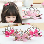 Girls Children Baby Hair Accessories Shiny Rhinestone Princess Hairpin Headress