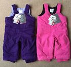 NWT baby girls size 6-9 mos The Children's Place PURPLE or PINK snow bibs/pants!