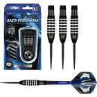 Andy Fordham Black Onyx with White Rings 90% Tungsten Steel Tip Darts by Winmau