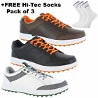33%OFF Hi-Tec Combi Sneaker Leather Mens Spikeless Golf Shoes - Water Resistant