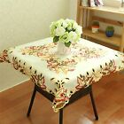 34x34 inch Embroidered Floral Tablecloth Flower Lace Table Covers White Ship USA