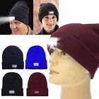 Unisex Mens LED Light Winter Warm Cap Hip-Hop Beanie Fishing Running Ski Hat